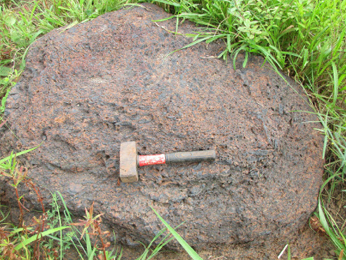 Outcrop of manganese oxide